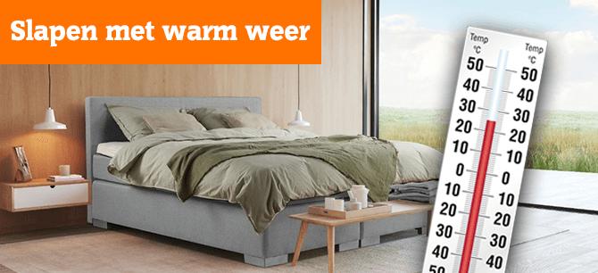 Hoe kunt u toch lekker slapen tijdens (erg) warm weer?