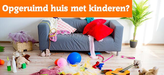 Hoe houdt u uw huis opgeruimd en leefbaar met kinderen?