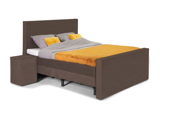 William Luxe Bed – Glad hoofdbord - Monolith taupe
