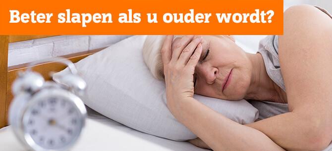 Hoe kunt u beter slapen als u ouder wordt?